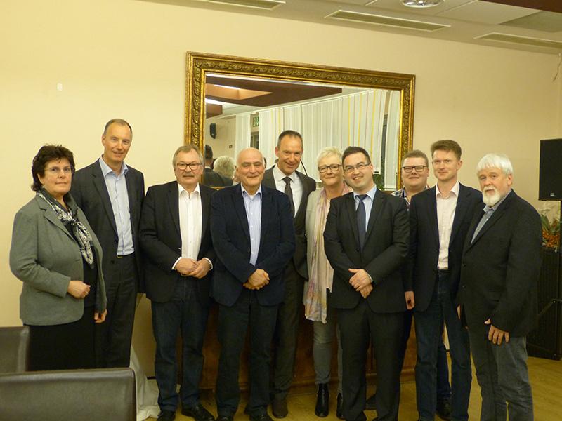 Vorstand der CDU Attendorn mit Landrat, MdB und Jubilar 2017
